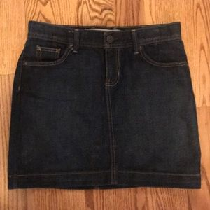 Gap denim mini skirt size 2